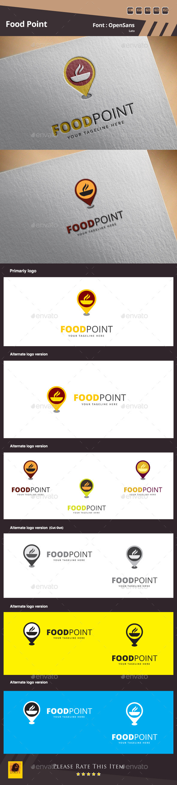 Food Point Logo Template