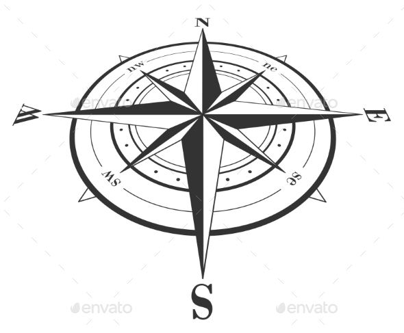 GraphicRiver Compass Rose Isolated on White 10022079