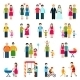 Family Figures Icons - GraphicRiver Item for Sale