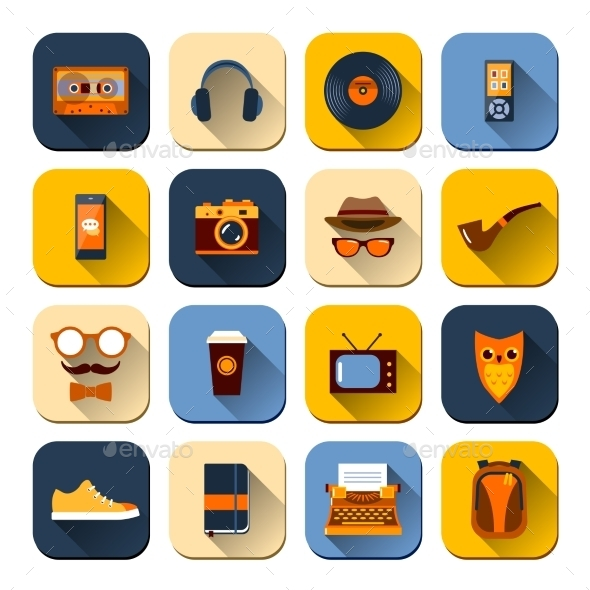 GraphicRiver Hipster Icons Set 10022097