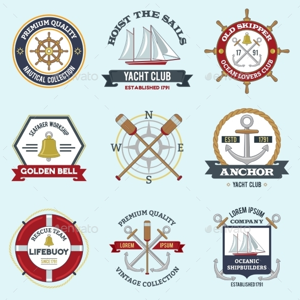 GraphicRiver Nautical Labels Set 10022105