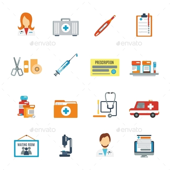 GraphicRiver Doctor Icon Flat 10022138