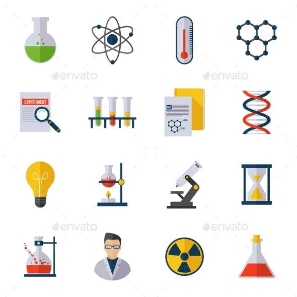 GraphicRiver Chemistry Icon Flat 10022173