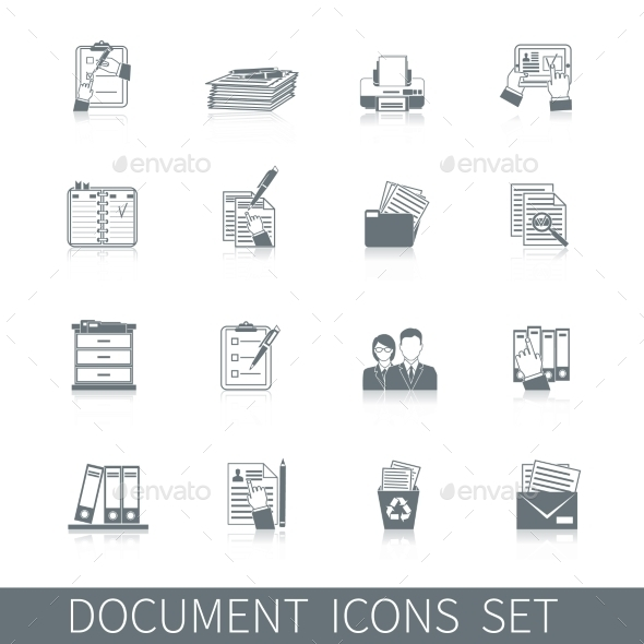 GraphicRiver Document Icon Black 10022178