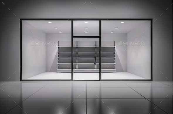 GraphicRiver Store Interior With Shelves 10022237