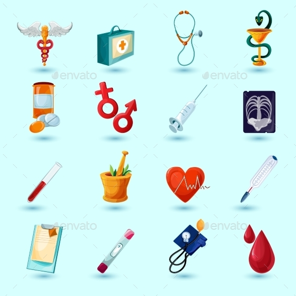 GraphicRiver Medical Icon Set 10022252