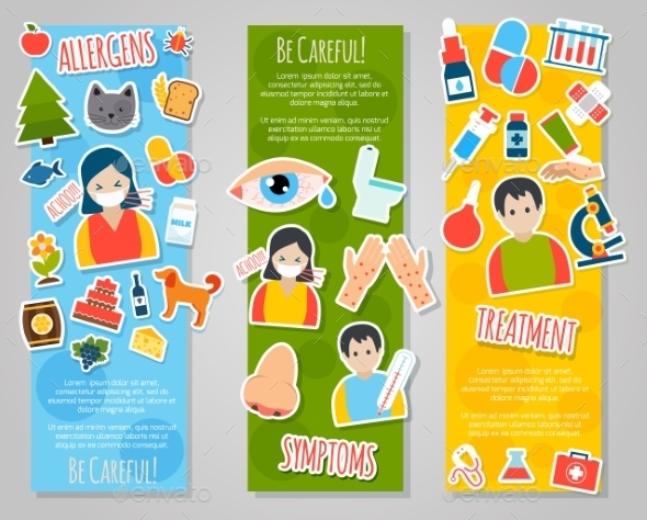GraphicRiver Allergies Banner Set 10022258