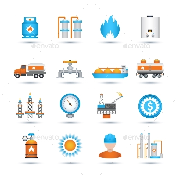 GraphicRiver Gas Icons Set 10022312