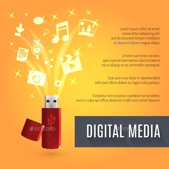 GraphicRiver Usb Flash Drive Media 10022332