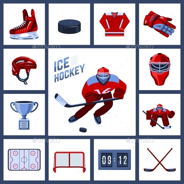 GraphicRiver Hockey Icon Set 10022368