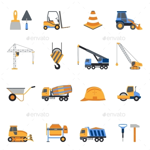 GraphicRiver Construction Icons Set 10022386