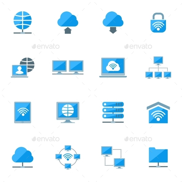 GraphicRiver Network Icons Set 10022390