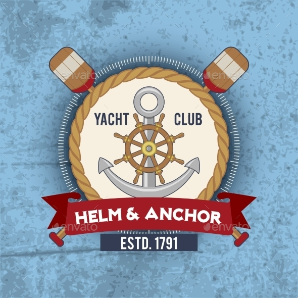 GraphicRiver Nautical Emblem Vintage 10022391