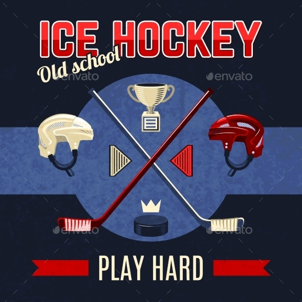 GraphicRiver Ice Hockey Poster 10022393