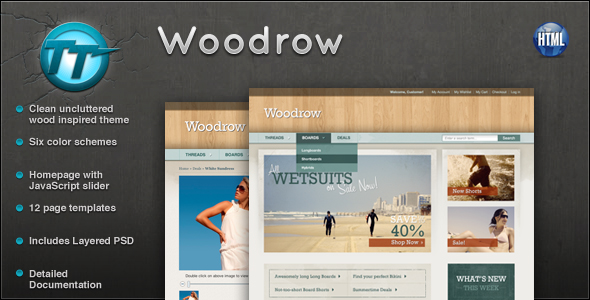 Woodrow eCommerce HTML theme