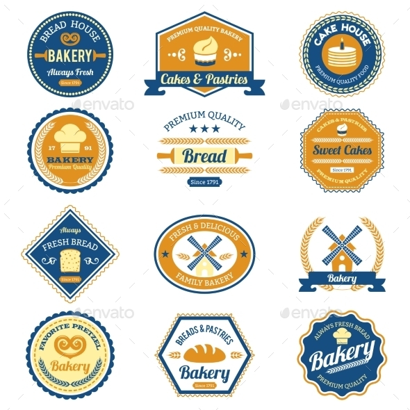GraphicRiver Cupcake Bakery Labels 10022406