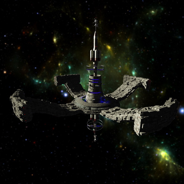 3DOcean Space station 10022407