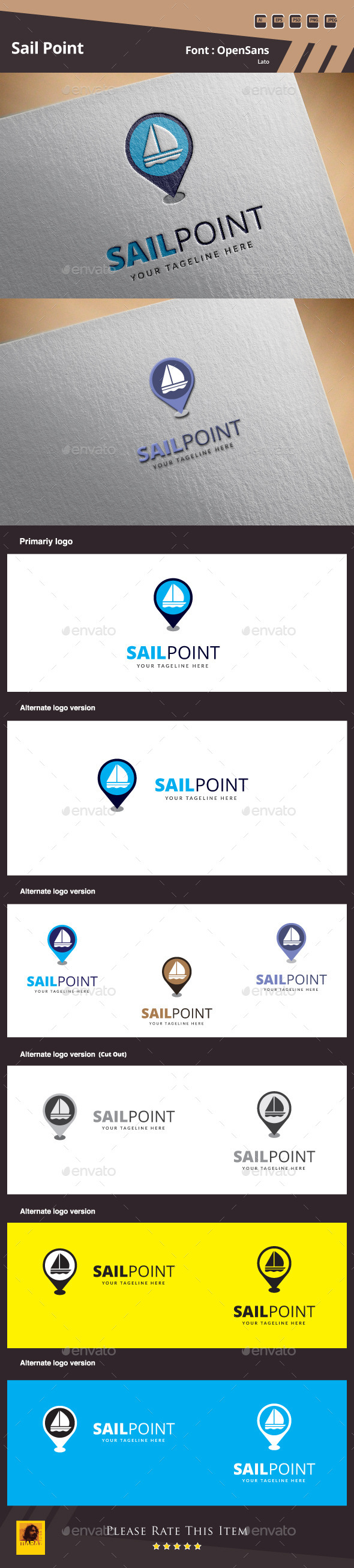 GraphicRiver Sail Point Logo Template 10022700