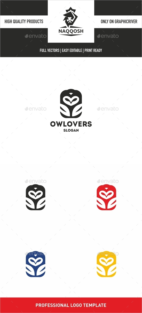 GraphicRiver Owl Lovers 10022756