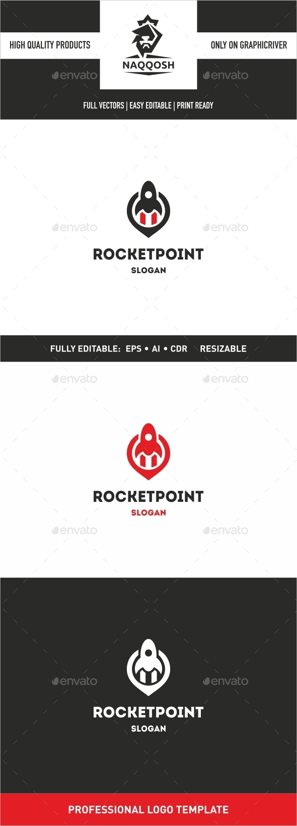 GraphicRiver Rocket Point Logo Template 10022771