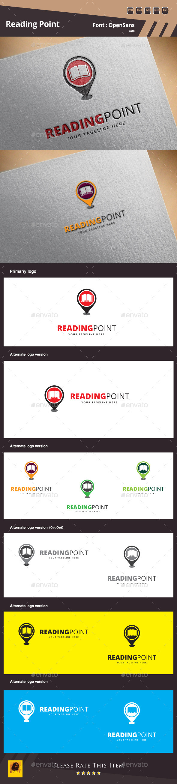GraphicRiver Reading Point Logo Template 10022788