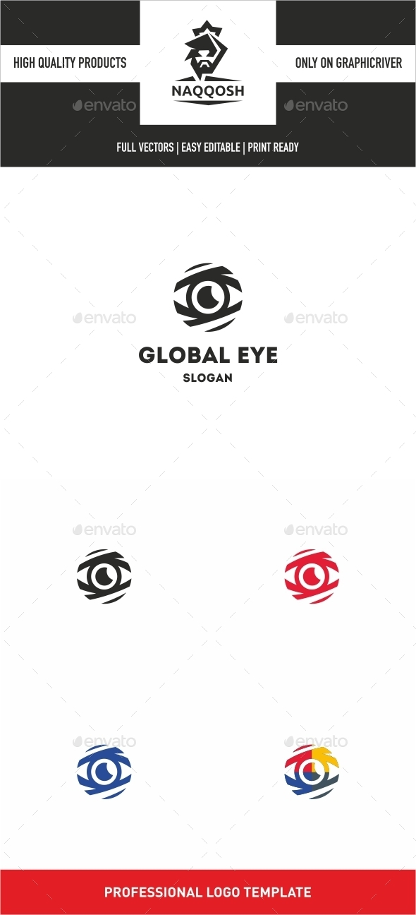 GraphicRiver Global Eye Logo 10022798