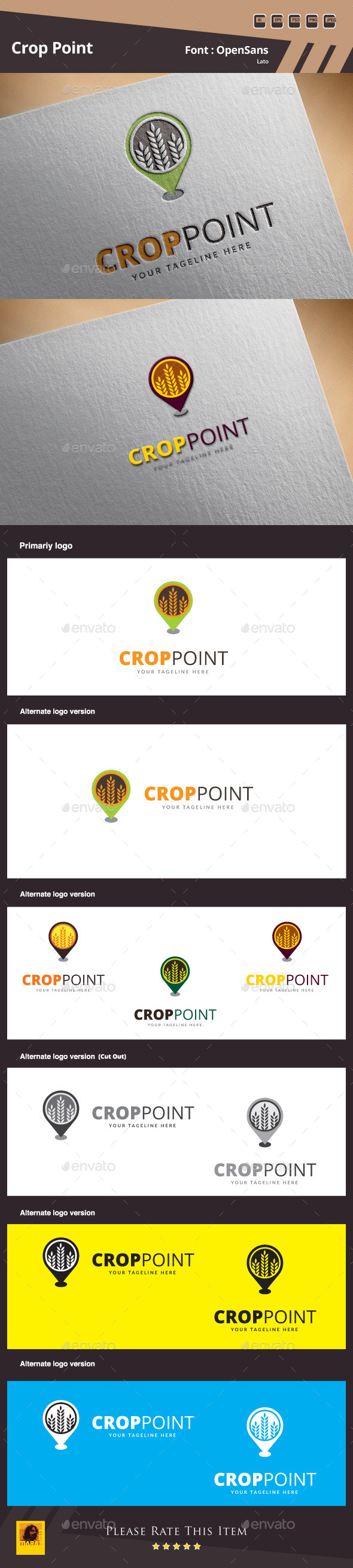 GraphicRiver Crop Point Logo Template 10022811