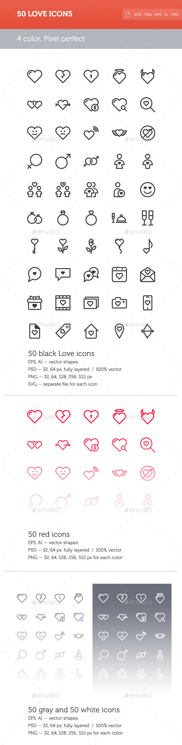 GraphicRiver Love Icon Set 10022902