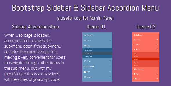 CodeCanyon Bootstrap Sidebar & Sidebar Accordion Menu 10020308