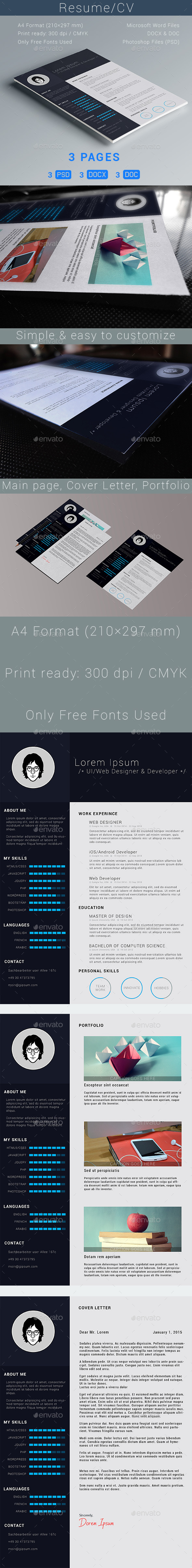 GraphicRiver Resume CV 9979860