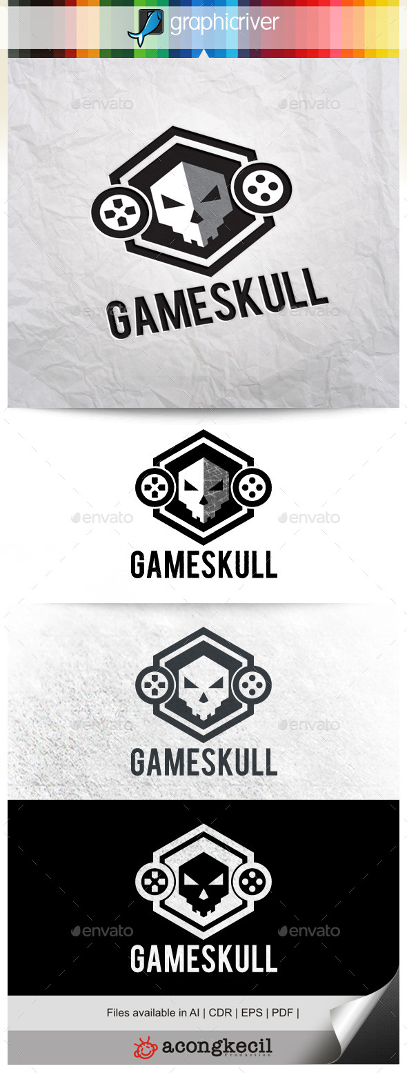 GraphicRiver Game Skull 10023151