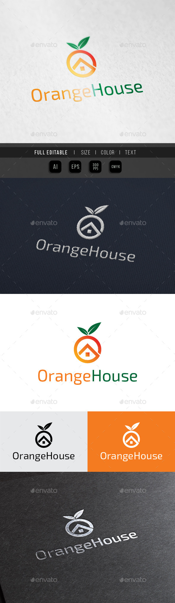GraphicRiver Orange House Fruit Juice shop 10023208