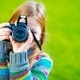 Girl Taking Pictures by DSLR - PhotoDune Item for Sale