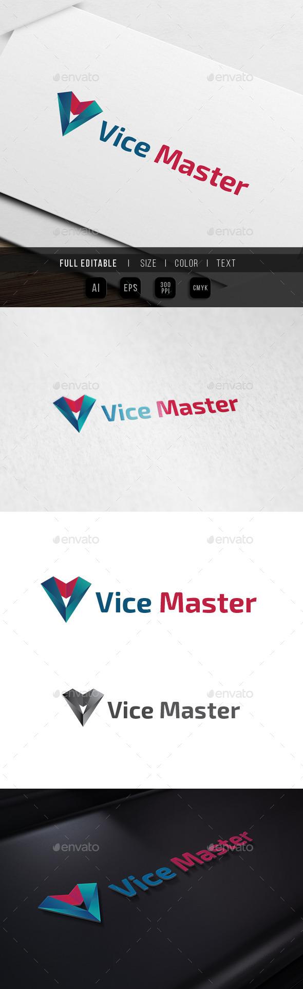 GraphicRiver Letter V Victory Agency Vision Studio 10023222