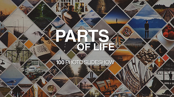 VideoHive Parts Of Life 100 Photo Slideshow 10023391