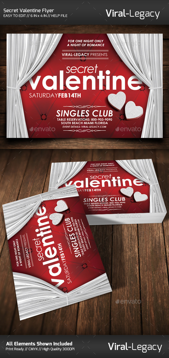 GraphicRiver Secret Valentine Flyer 10023554