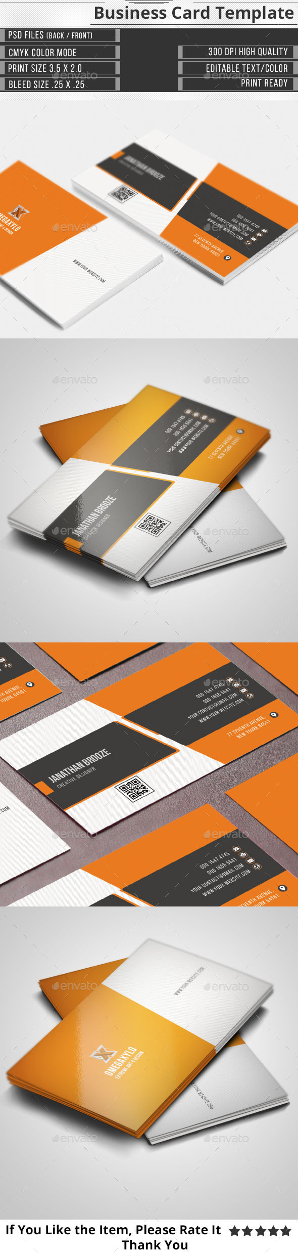 GraphicRiver Elegant Corporate Business Card 10023746