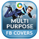 Multi Purpose Facebook Covers - 4 Designs - GraphicRiver Item for Sale