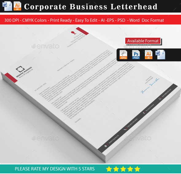 GraphicRiver Corporate Letterhead 10023963