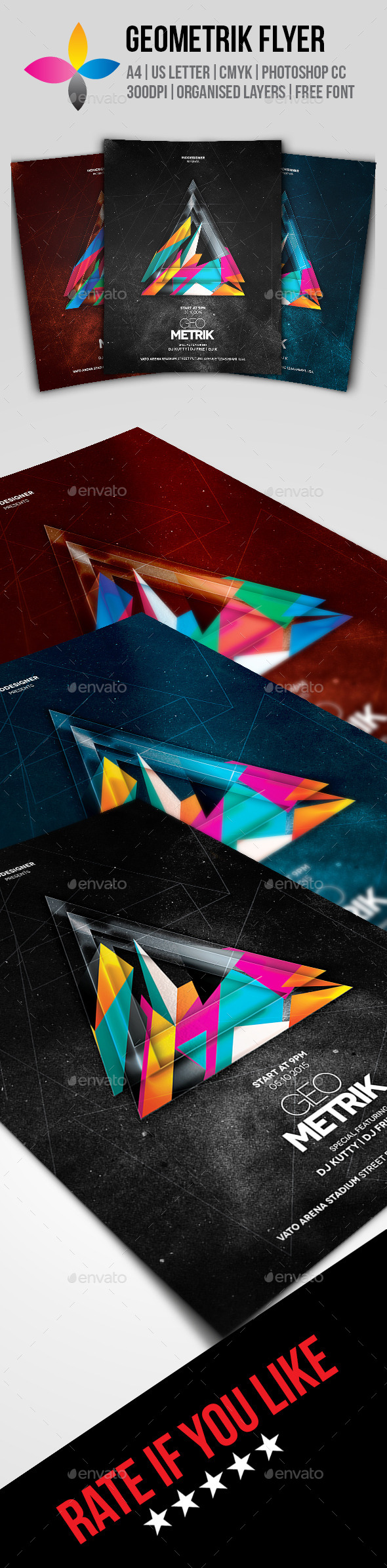 GraphicRiver Geometrik Flyer 10024074