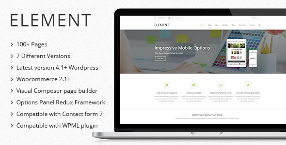ThemeForest Element Multipurpose Wordpress Theme 9995342