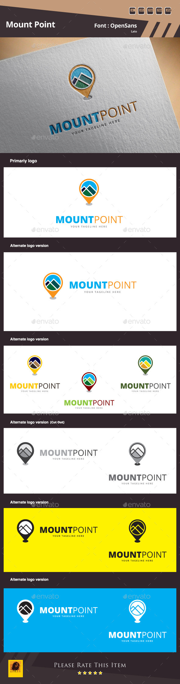 GraphicRiver Mount Point Logo Template 10024712