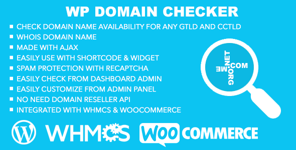 WP Domain Checker is a WordPress plugin which allow you easily to check domain name availability from your wordpress site. You can check or search for any gener