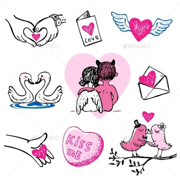 GraphicRiver Valentine Icons 10024814