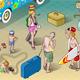 Isometric Tourists Peoples Set in Vacation - GraphicRiver Item for Sale