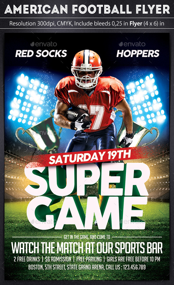 GraphicRiver American Football Flyer 10020411
