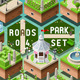 Isometric Accessories for Green City Park Set - GraphicRiver Item for Sale