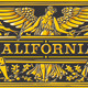 Vintage California Label Plaque, Black and Gold - GraphicRiver Item for Sale