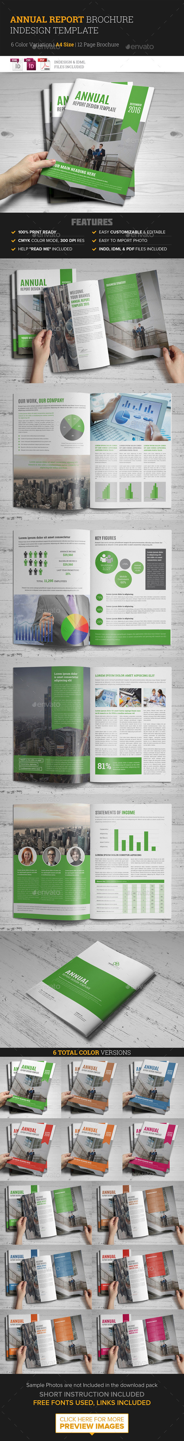 GraphicRiver Annual Report Brochure Indesign Template 10025246