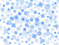 blue snowflakes on the white background - PhotoDune Item for Sale